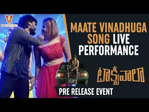 Maate Vinadhuga Song LIVE Performance | Taxiwaala Pre Release | Allu Arjun | Vijay Deverakonda