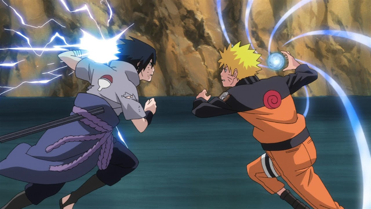 naruto vs sasuke all fights youtube