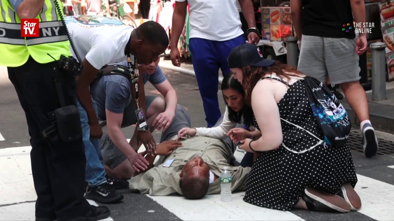 Car slams into Times Square pedestrians, killing one, injuring 22
