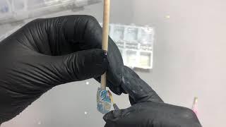 Маникюр в акварельной технике под гель лак стразы