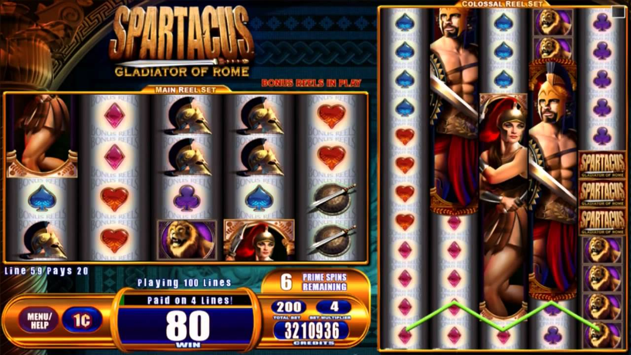 Spartacus Gladiator of Rome –Kostenloser WMS Colossal Reels-Slot