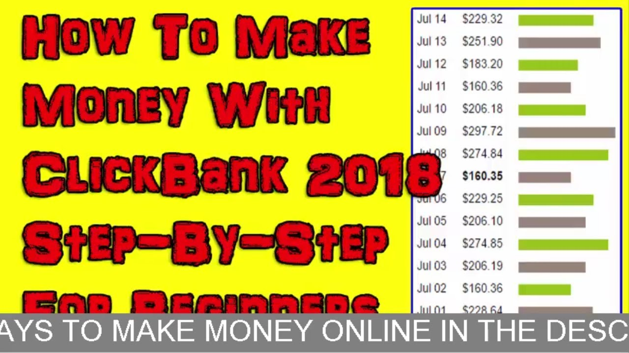 Make Money Online With ClickBank For Beginners