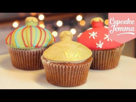 Make Christmas Bauble Cupcakes | Cupcake Jemma Pics