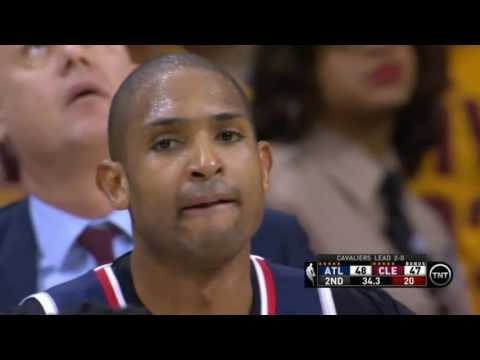 Al Horford elbows Dellavedova and gets ejected! (Hawks Cavs, Game 3)