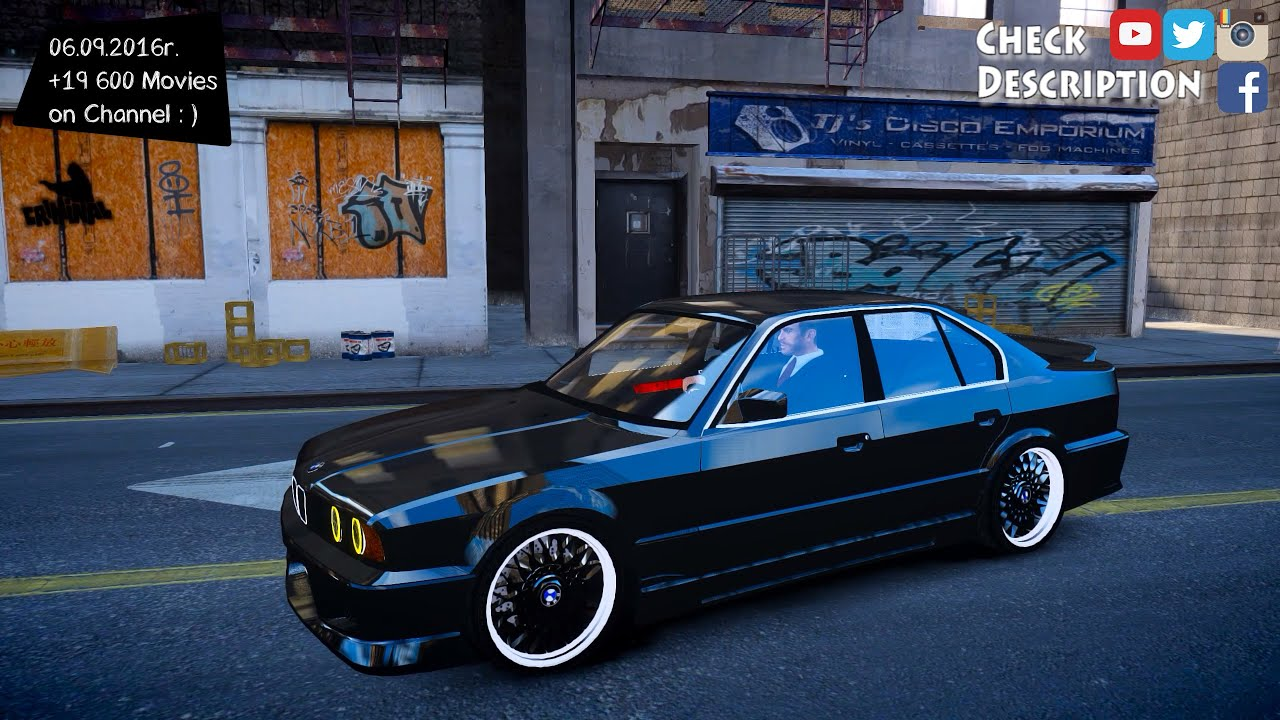 1998 bmw 545i e34 tuning gta iv enb 2 7k 1440p. Black Bedroom Furniture Sets. Home Design Ideas