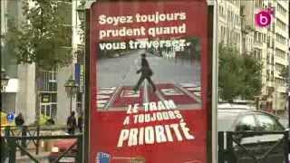 Le tram a toujours priorité à Bruxelles. Campagne
