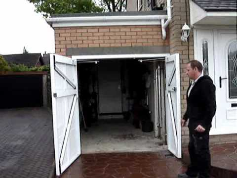 Steel Side Hinged Garage Door Youtube