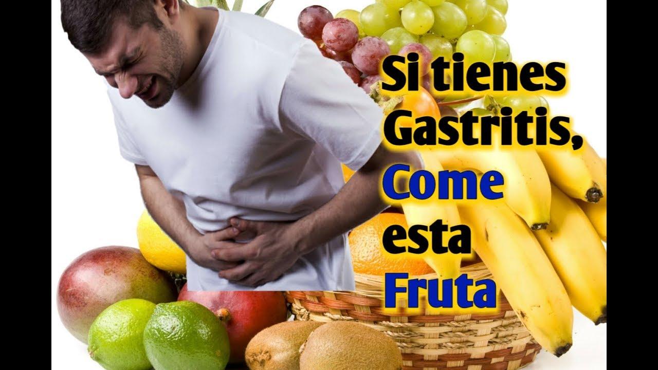 que frutas comer si tengo gastritis