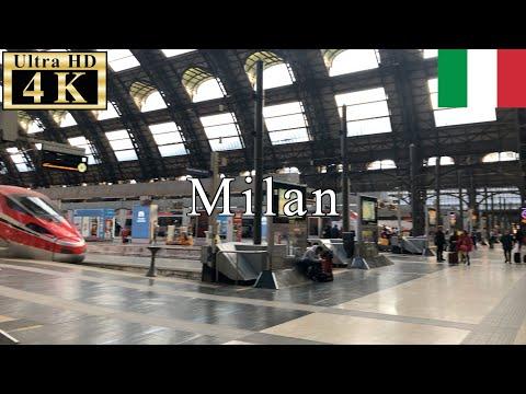 🇮🇹Milan Winter Walk - Milano Centrale Railway Station -【4K 60fps】