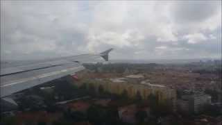 Lisbon Airport Landing Tap Airlines Portugal Airbus A319 from Faro Airport FAO lands at Lisboa LIS