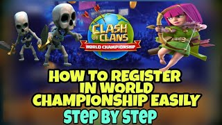 $1,000,000 prize || HOW TO PARTICIPATE OR REGISTER IN WORLD CHAMPIONSHIP OF CLASH OF CLANS |