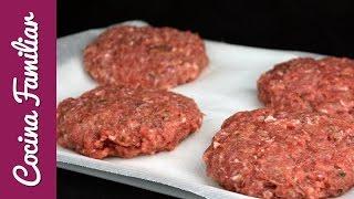 Como hacer hamburguesas caseras paso a paso | Recetas de Hamburguesa