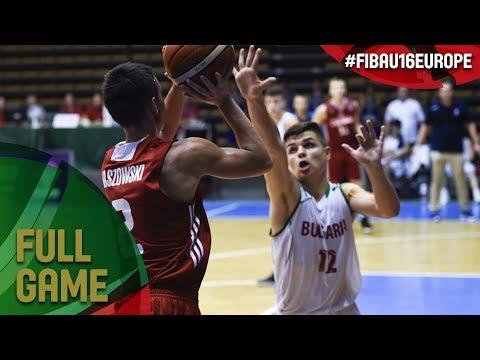 Bulgaria v Poland - Full Game - FIBA U16 European Championship 2017 - DIV B