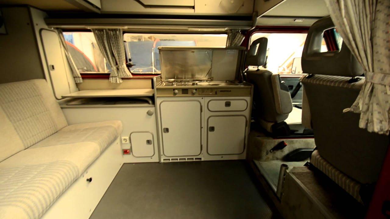 Vw T3 Hoogdak Camper Van Buiten En Binnen Youtube