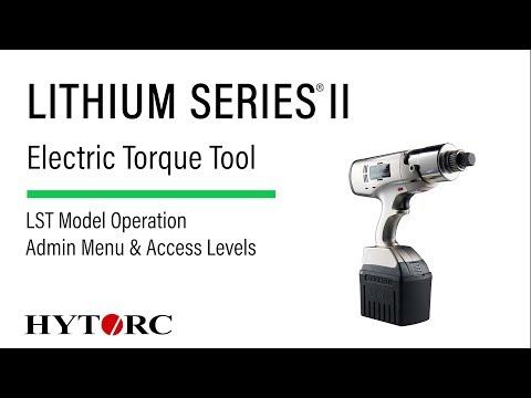 LITHIUM SERIES II Admin Menu & Access Levels - YouTube