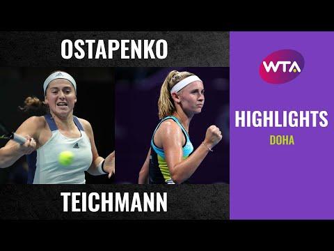 Jelena Ostapenko vs. Jil Teichmann | 2020 Doha First Round | WTA Highlights