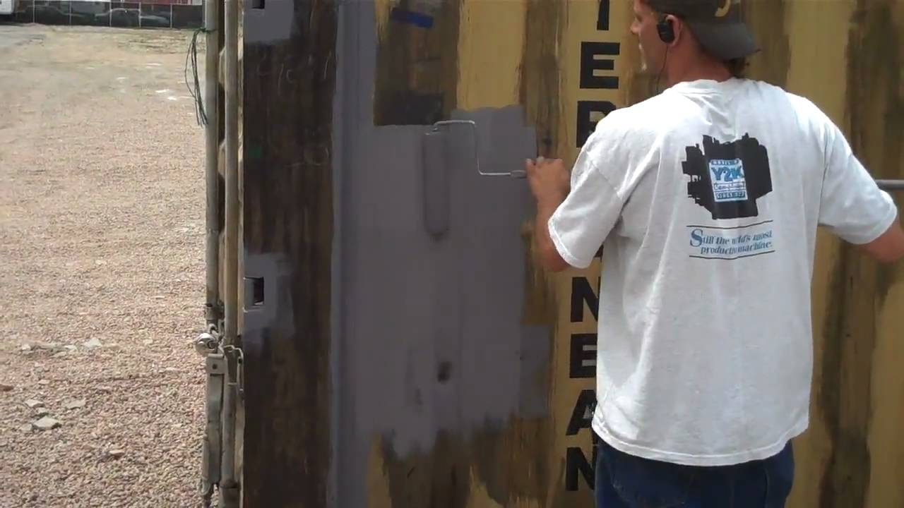 How To Refurbish A Metal Shipping Container Youtube