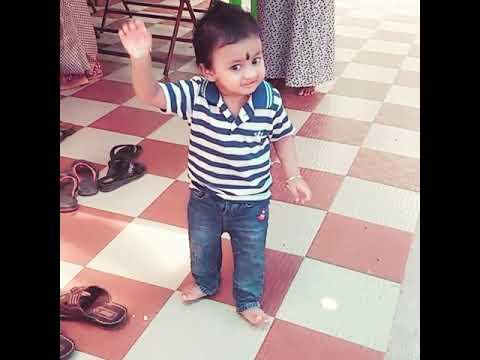Jimikki kammal dance by 15 months old kid Dhrupad