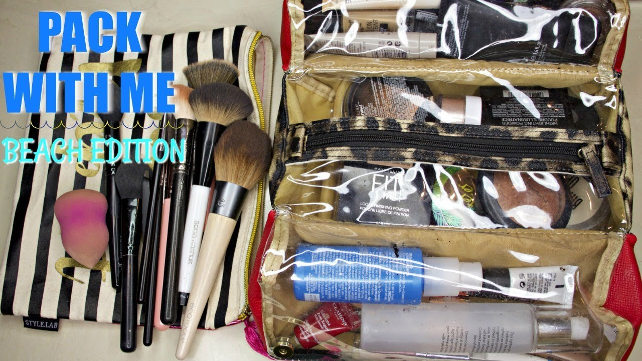 5a00f2ddd886 WHAT'S IN MY TRAVEL MAKEUP BAG 2018 - BEACH VACATION MAKEUP PACKING TIPS +  TRICKS | glossandtalk