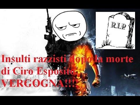 Insulti razzisti dopo la morte di Ciro Esposito - VERGOGNA!!!