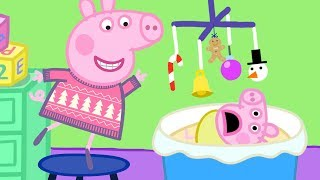 Peppa Pig English Episodes  Visiting Chole's Family   Peppa Pig Christmas | Peppa Pig Official