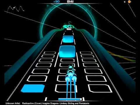 AudioSurf - Radioactive - Lindsey Stirling and Pentatonix