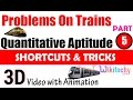 Problems On Trains 5 aptitude test questions and answers with solutions online videos lectures  tips