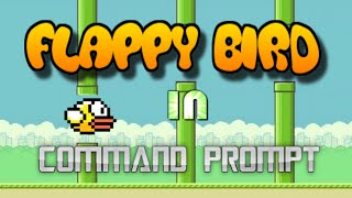 flappy bird in command prompt 2016