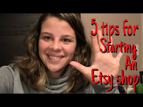 5 tips for starting an Etsy business // how I started my business at 15