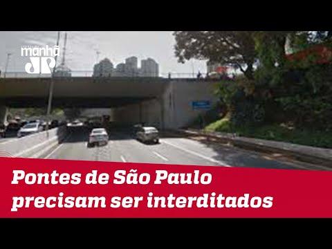 14 dos 16 viadutos e pontes de São Paulo precisam ser interditados, apontam laudos