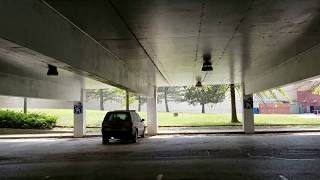 Abandoned and Derelict Forest Fair Village Mall Parking Garage + Security Vehicle