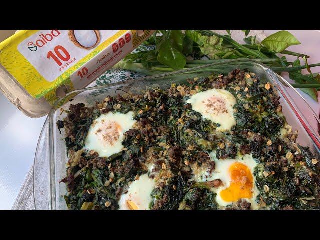 Tavë Speciale me Spinaq dhe Vezë - Cazuelas de espinaca y huevo