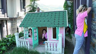 Masal and Öykü with play Hide and Seek - Funny Kids Video