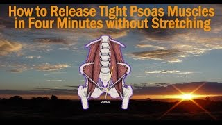 how to release your psoas muscles without stretching exercise 1   walking into the floor