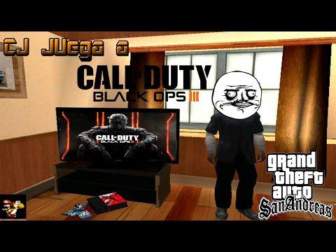 CJ Juega a Call of Duty Black Ops 3 (MultiPlayer + Zombies) - GTA San Andreas Loquendo
