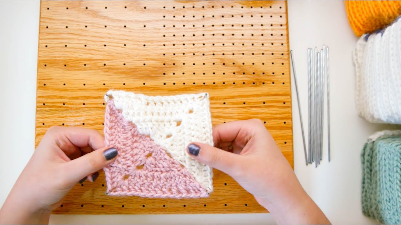 How To Block Granny Squares Youtube
