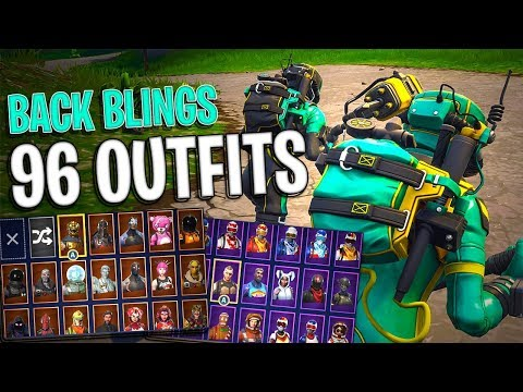 Pathogen | Contagion Back Blings on 96 Outfits | Toxic Trooper | Hazard Agent - Fortnite Cosmetics
