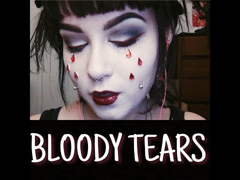 bloody tears goth makeup