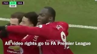 Sanchez goal vs Swansea + Lingard double nutmeg assist