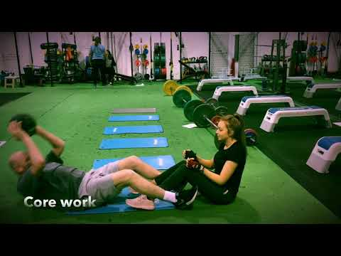 Father And Daughter Personal Training Session