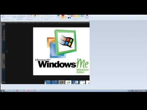 Windows ME, MF, MFE MS Paint