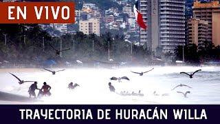 En vivo: Trayectoria de impacto del Huracán Willa