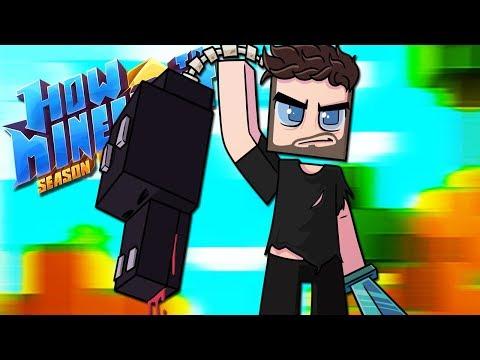 """CUSTOM ENDER DRAGON BATTLE!"" - How To Minecraft: Season 6 Spectacle 35"