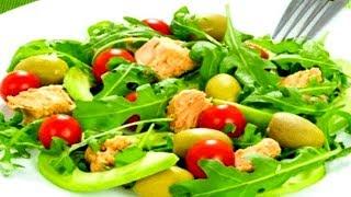 Вкусно и Быстро Салат с тунцом, авокадо и рукколой (пошаговый рецепт)
