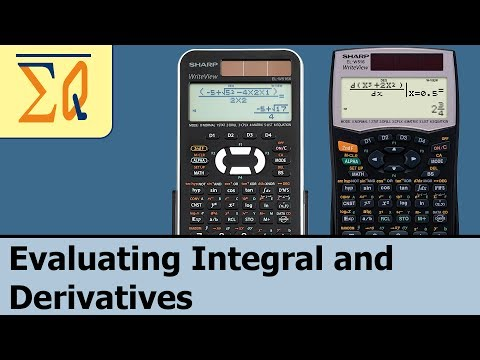Sharp ELW-516x EL-W506X EL-W516XBSL Evaluating Integral and Derivatives