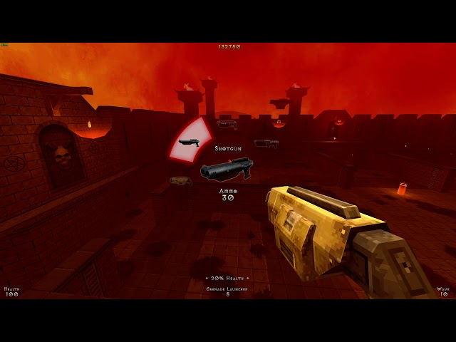 Demon Pit PC gameplay - Score attack survival shooter