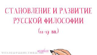 Становление и развитие русской философии