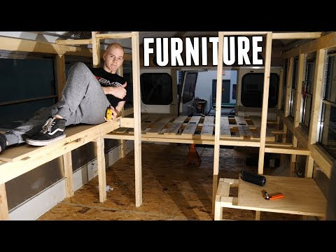 Building The Furniture In The Adventure Bus!