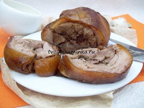 Рулет из свиной рульки: как приготовить мясной деликатес в ...