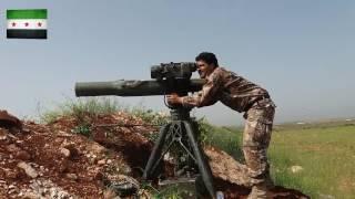 تدمير دبابة بصاروخ تاو على جبهة طيبة الإمام بريف حماة